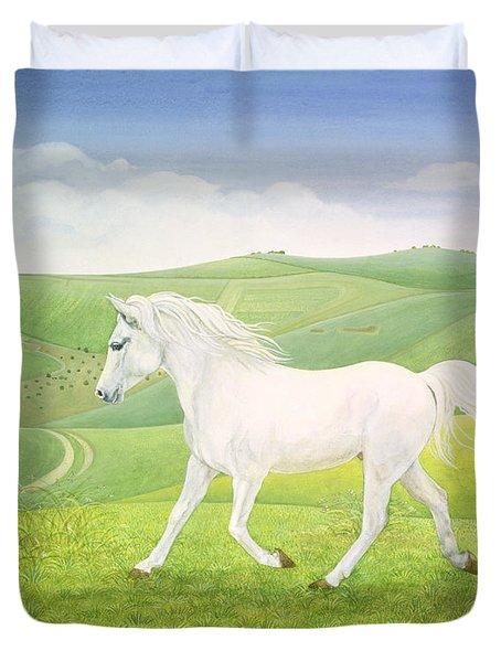 The Landscape Horse Duvet Cover by Ditz