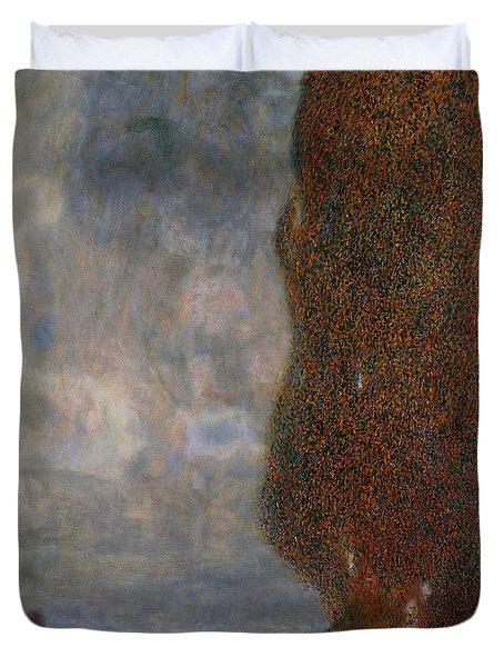 The Large Poplar II Gathering Storm Duvet Cover