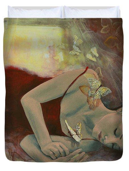 The Last Dream Before Dawn Duvet Cover by Dorina  Costras