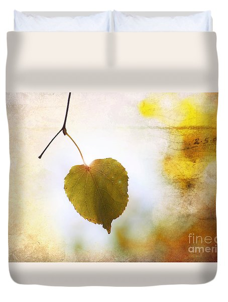 The Last Leaf Duvet Cover by Nishanth Gopinathan