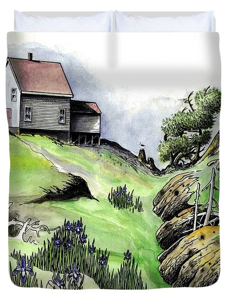 The Last Lifesaving Station Duvet Cover