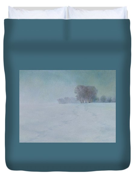 The Last Snow Duvet Cover by Lynn Bywaters