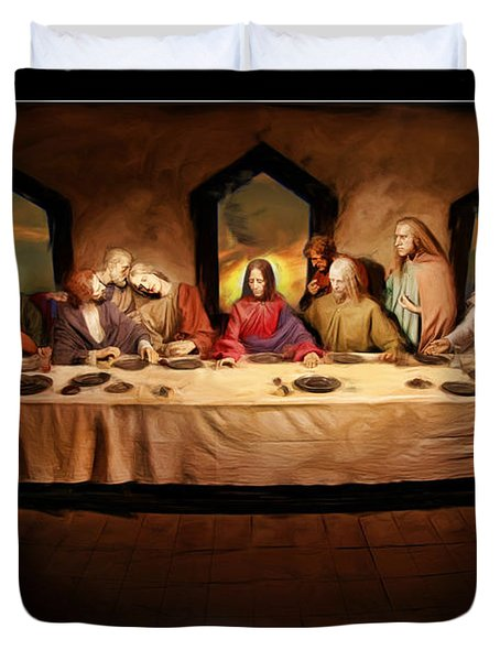 The Last Supper Duvet Cover by Blake Richards