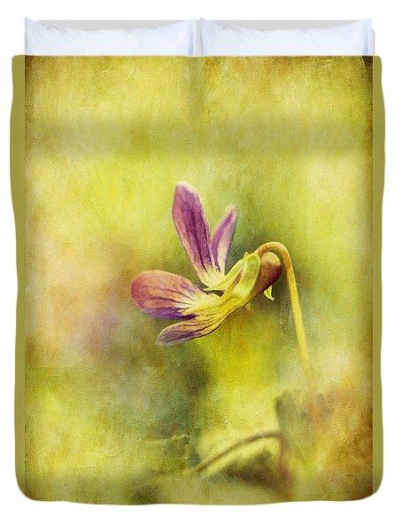 The Last Violet Duvet Cover by Lois Bryan