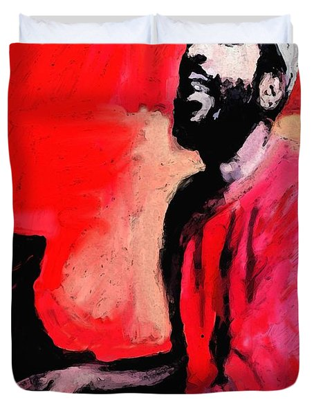 The Late Great Marvin Gaye Duvet Cover