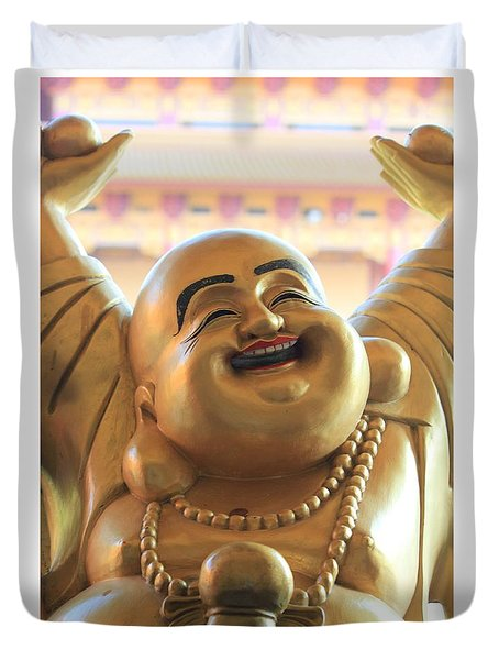 The Laughing Buddha Duvet Cover by Amy Gallagher