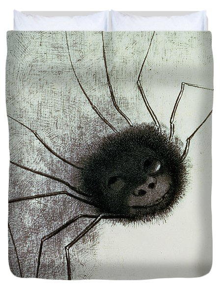 The Laughing Spider Duvet Cover by Odilon Redon