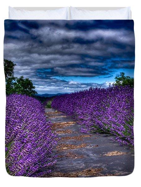 The Lavender Field Duvet Cover