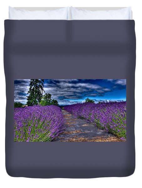 The Lavender Field Duvet Cover