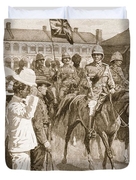 The Leader Of The Allies, Illustration Duvet Cover by Ernest Prater