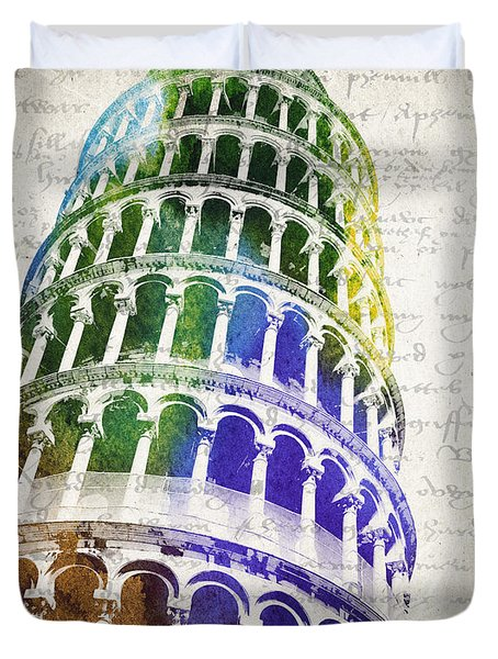 The Leaning Tower Of Pisa Duvet Cover