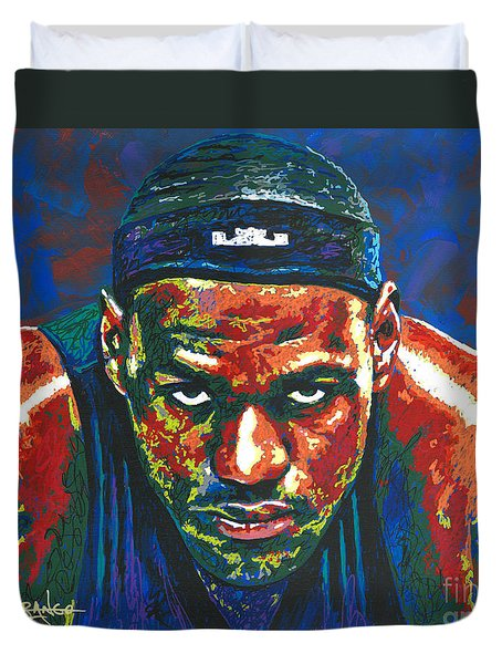The Lebron Death Stare Duvet Cover