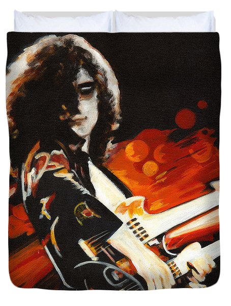 Stairway To Heaven. Jimmy Page  Duvet Cover