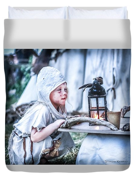 Duvet Cover featuring the photograph The Leprosy Child And The Healing Lantern by Stwayne Keubrick