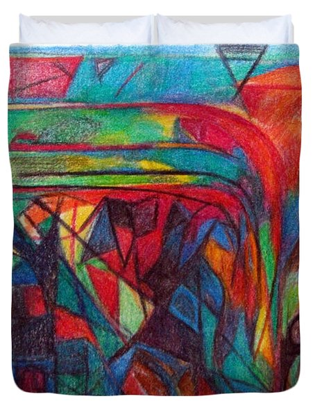 The Letter Raish Duvet Cover by David Baruch Wolk