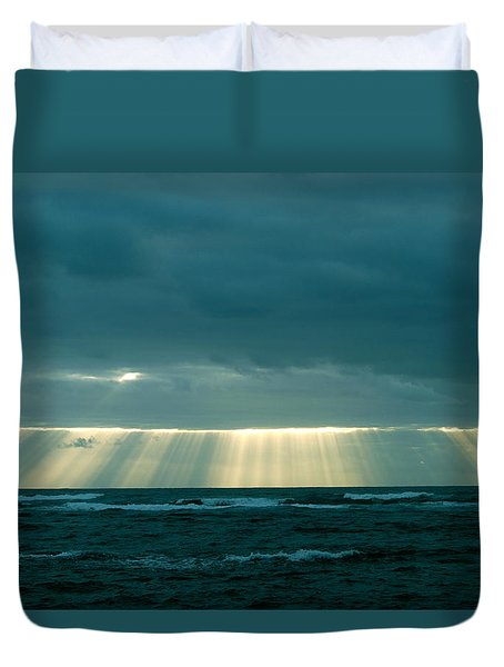 The Light Above Kapoho Duvet Cover
