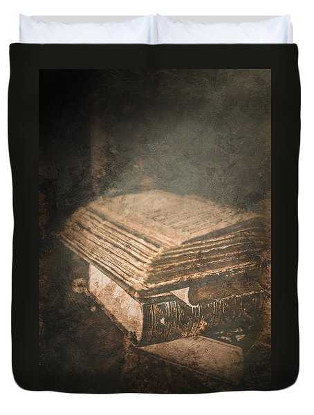 The Light Of Knowledge Duvet Cover by Loriental Photography