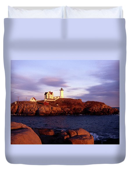 The Light On The Nubble Duvet Cover by Skip Willits