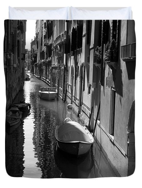 Duvet Cover featuring the photograph The Light - Venice by Lisa Parrish