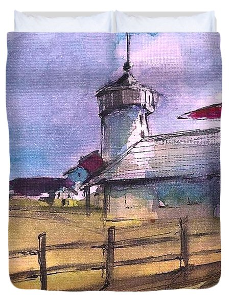 The Lighthouse Duvet Cover by Diane Strain
