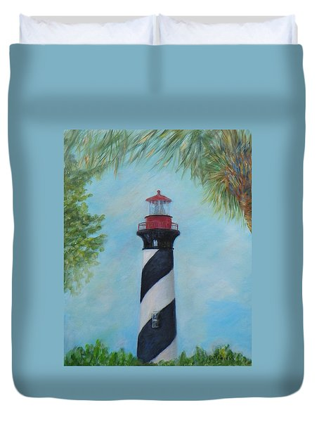 The Lighthouse In St. Augustine Florida Duvet Cover
