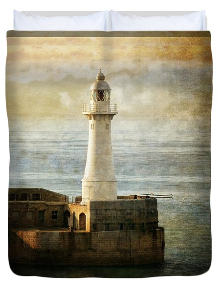 The Lighthouse Duvet Cover by Lucinda Walter