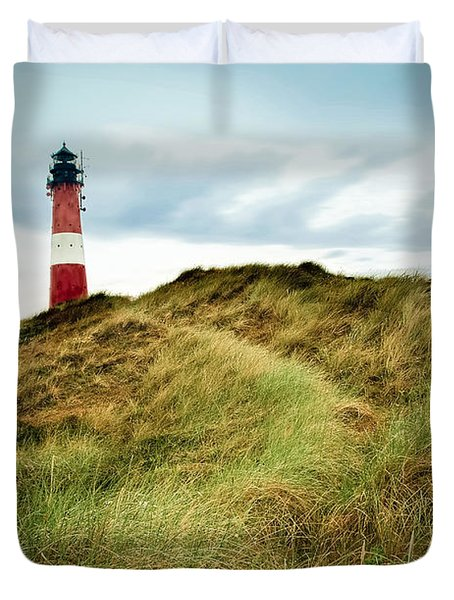 the lighthouse of Hoernum Duvet Cover by Hannes Cmarits