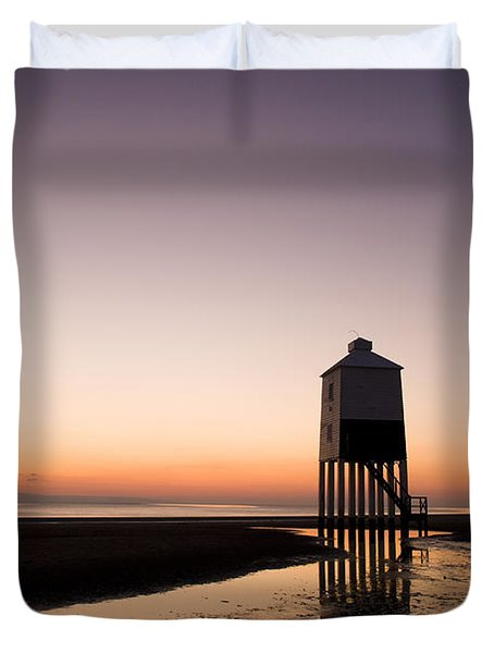 The Lighthouse On Legs Duvet Cover by Anne Gilbert
