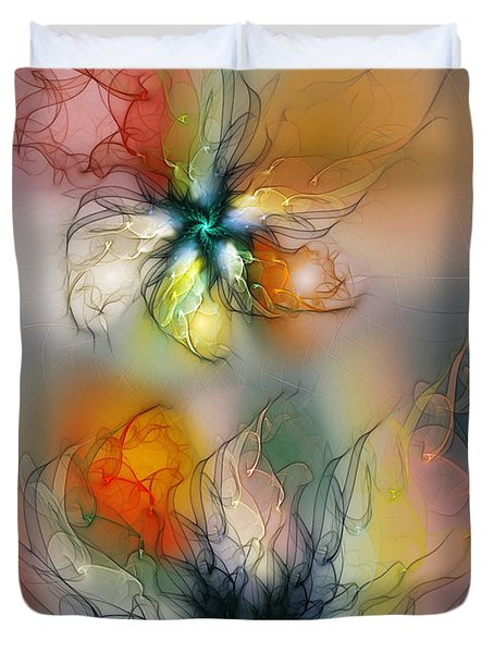 The Lightness Of Being-abstract Art Duvet Cover