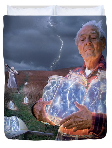 The Lightning Catchers Duvet Cover