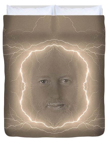 The Lightning Man Sepia Duvet Cover by James BO  Insogna
