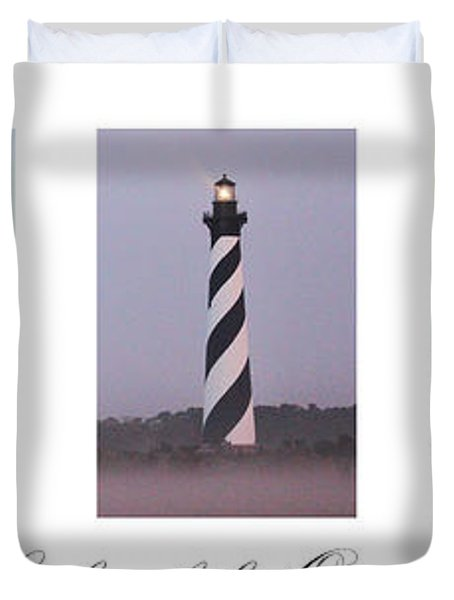 The Lights Of The Outer Banks Duvet Cover