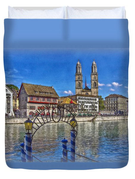 The Limmat City Duvet Cover