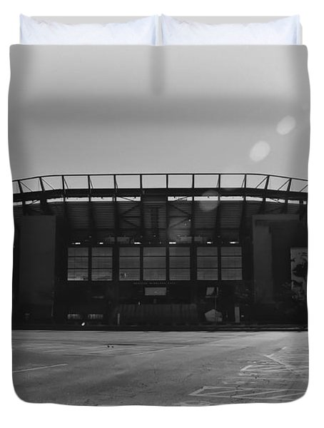 The Linc In Black And White Duvet Cover by Bill Cannon