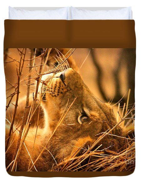 The Lion Muse Duvet Cover