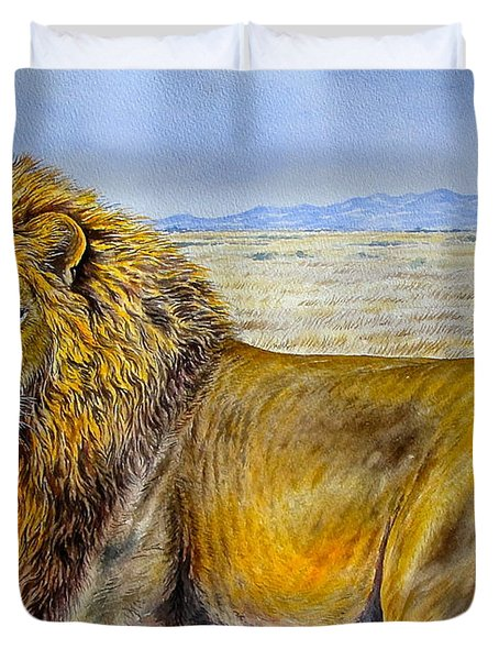 The Lion Rules Duvet Cover