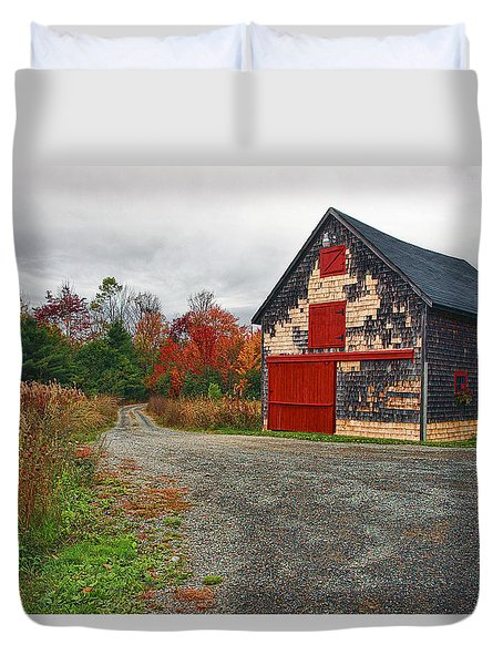 The Little Barn Duvet Cover by Marcia Colelli