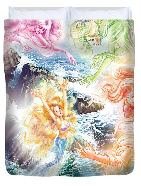 The Little Mermaid And Wind Daughters Duvet Cover