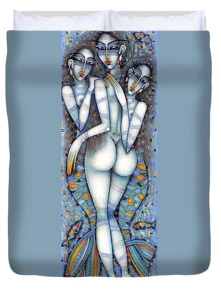 the little mermaids of Andersen Duvet Cover
