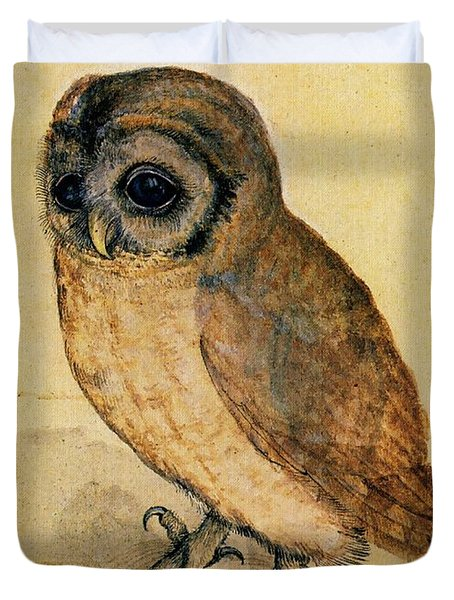 The Little Owl Duvet Cover by Albrecht Durer