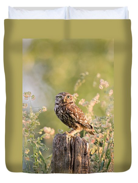 The Little Owl Duvet Cover by Roeselien Raimond