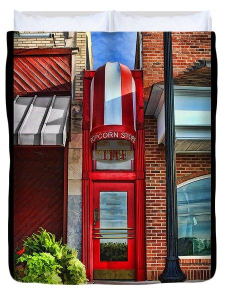 The Little Popcorn Shop In Wheaton Duvet Cover