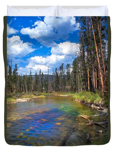 The Little Redfish Creek Duvet Cover by Robert Bales