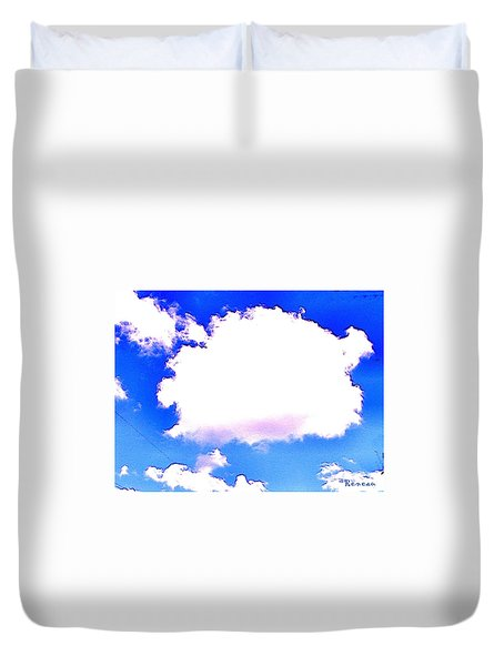 The Little White Cloud That Cried Duvet Cover by Sadie Reneau
