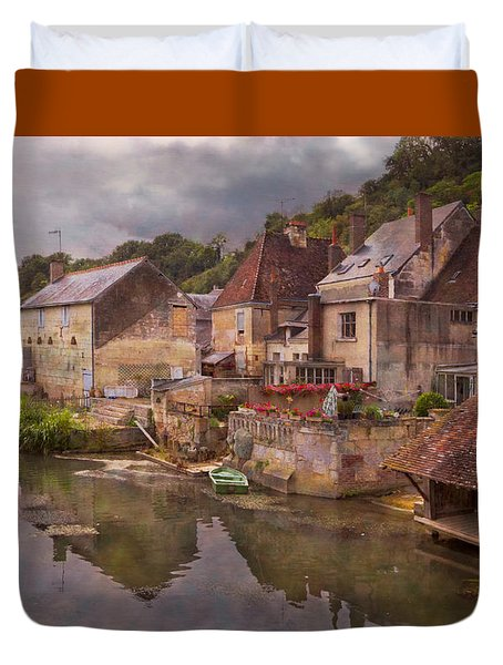 The Loir River Duvet Cover by Debra and Dave Vanderlaan