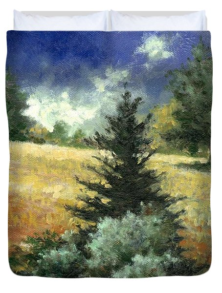 The Lone Fir Duvet Cover