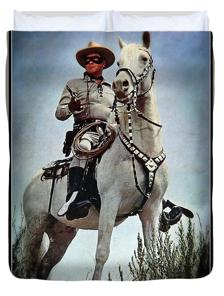 The Lone Ranger Duvet Cover by Bob Hislop