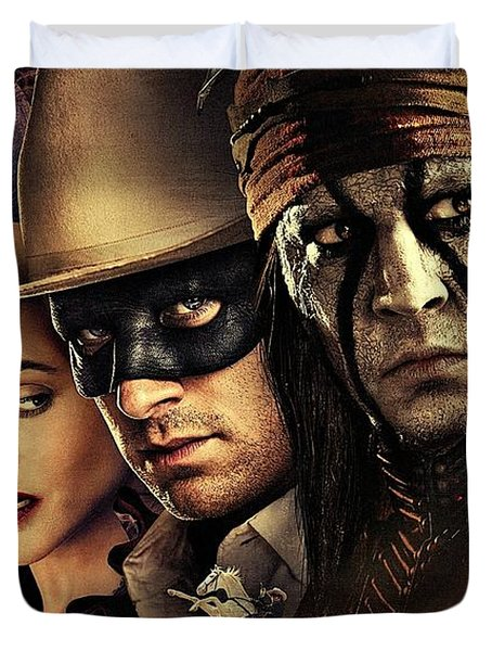 The Lone Ranger Duvet Cover by Movie Poster Prints