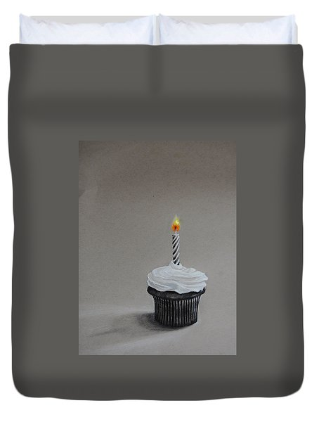 The Loneliest Birthday Ever Duvet Cover by Jean Cormier