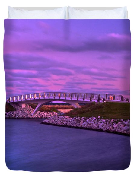 The Lonely Bridge Duvet Cover by Jonah  Anderson